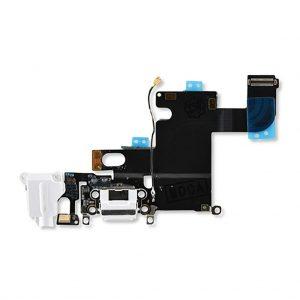 Оригинальный Аудио шлейф с системным разъемом iPhone 6, Белый (White)