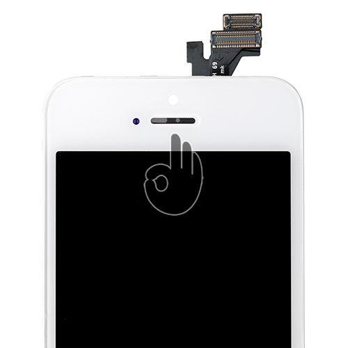 Модуль iPhone 5 белый (LCD экран, тачскрин, стекло в сборе)