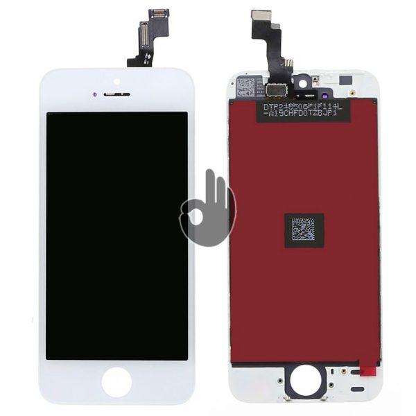 Оригинальный дисплей iPhone 5S белый (LCD, тачскрин, стекло, модуль в сборе)