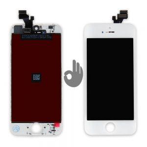 Дисплей iPhone 5 белый (LCD экран, тачскрин, стекло, модуль в сборе)