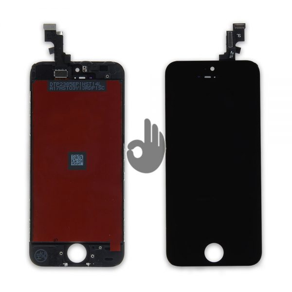 Дисплей iPhone 5S черный (LCD экран, тачскрин, стекло, модуль в сборе)