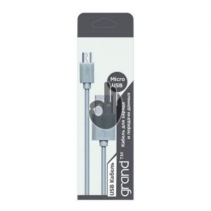 Дата-кабель GRAND USB-microUSB белый