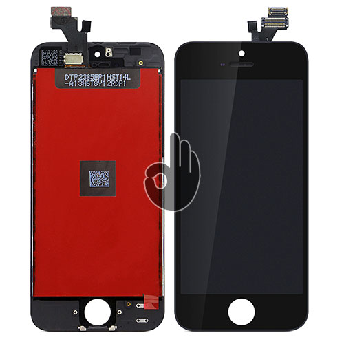 Оригинальный дисплей iPhone 5 черный Foxconn (LCD экран, тачскрин, стекло в сборе)