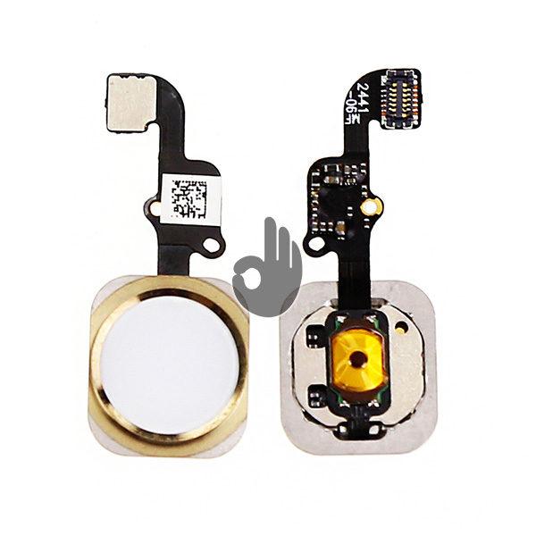 Оригинальная кнопка Home (кнопка меню, назад) iPhone 6 Plus золотистая со шлейфом