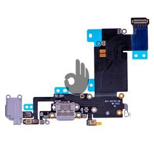 Оригинальный порт зарядки и синхронизации со шлейфом и аудио разъем iPhone 6S Plus серый