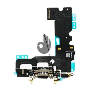 Оригинальный шлейф разъема зарядки, синхронизации, нижних микрофонов iPhone 7 черный