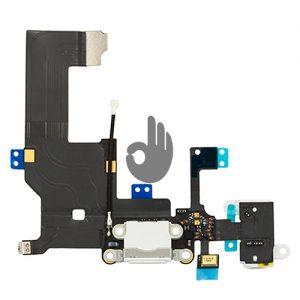Оригинальный разъем зарядки для iPhone 5 (белый)