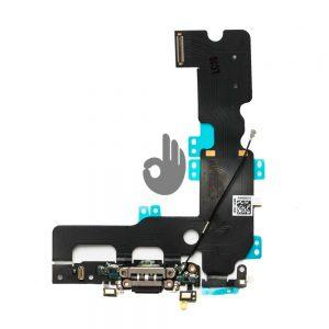 Оригинальный шлейф iPhone 7 Plus черный разъема зарядки, синхронизации, нижних микрофонов