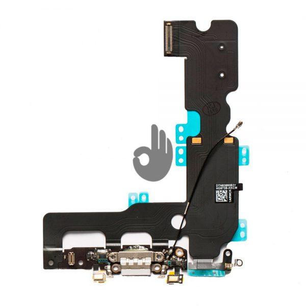 Оригинальный шлейф iPhone 7 Plus белый разъема зарядки, синхронизации, нижних микрофонов