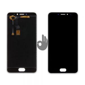 Оригинальный дисплей Meizu M5 Note (M621) черный (LCD экран, тачскрин, модуль в сборе)