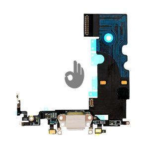 Оригинальный шлейф iPhone 8 белый разъема зарядки, синхронизации и нижних микрофонов