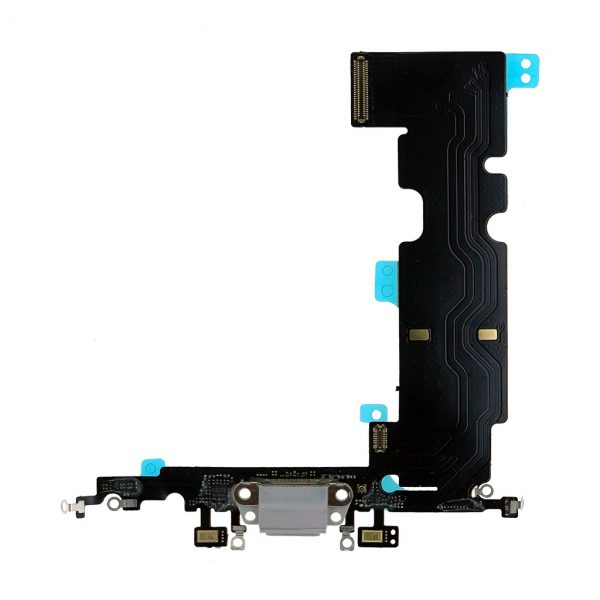 Шлейф iPhone 8 Plus | Оригинал | Тёмно-Серый | разъема зарядки, синхронизации, нижних микрофонов