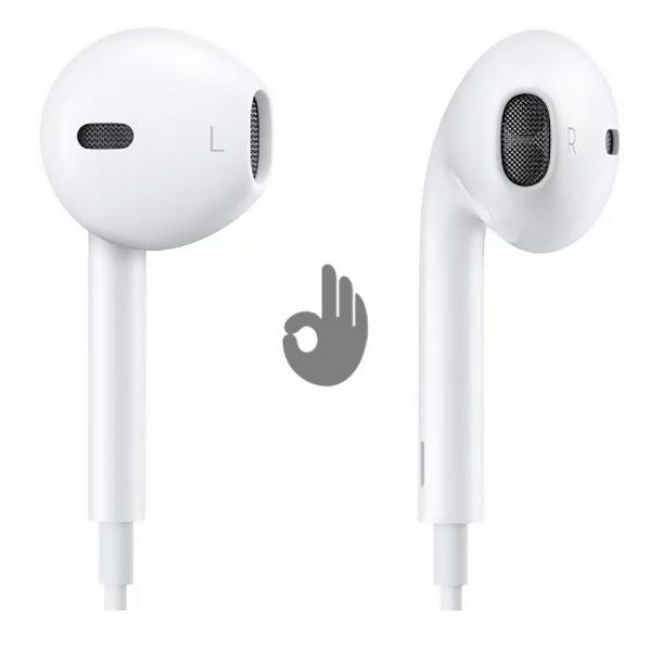 Оригинальные Наушники Apple EarPods с микрофоном и пультом (Штекер 3.5 мм) | MNHF2ZM/A