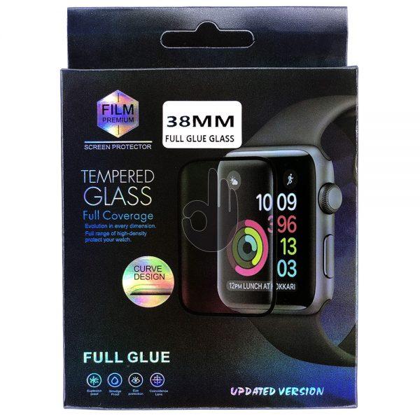 Защитное 5D Стекло Apple iWatch 38мм черное