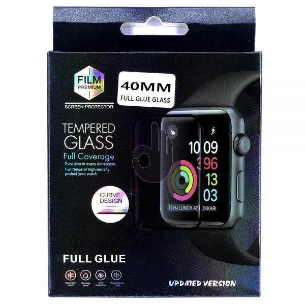 Защитное 5D Стекло Apple iWatch 40мм черное