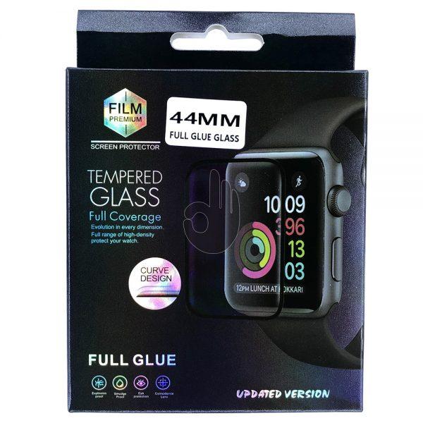 Защитное 5D Стекло Apple iWatch 44мм черное
