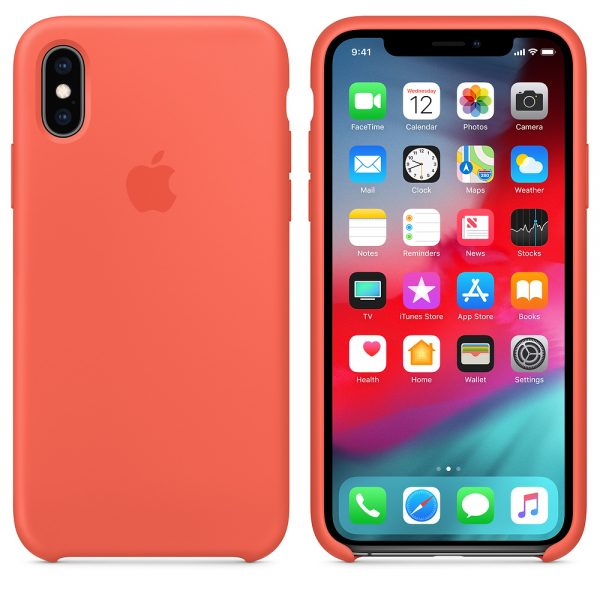 Силиконовый Чехол Apple iPhone X Silicone Case Nectarine