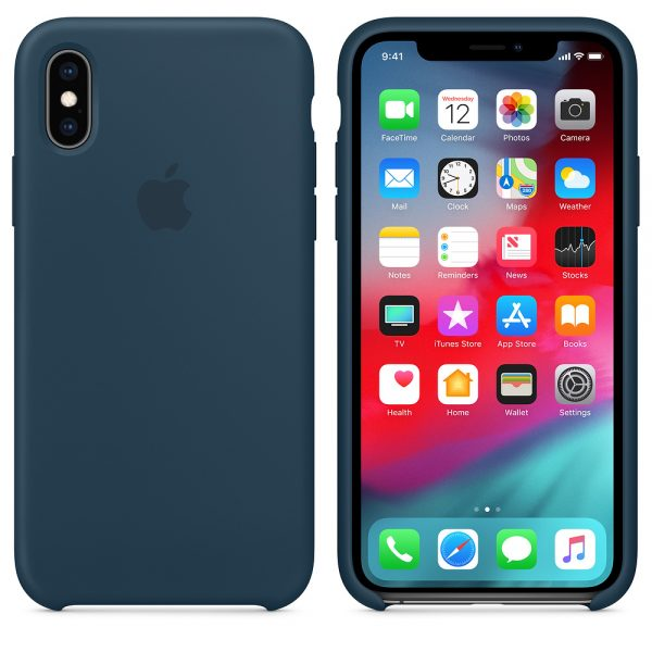 Силиконовый Чехол Apple iPhone X Silicone Case Pacific Green