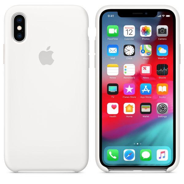 Силиконовый Чехол Apple iPhone X Silicone Case White