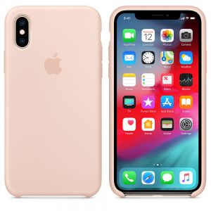 Силиконовый чехол Apple iPhone X Silicone Case Pink Sand