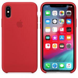 Силиконовый Чехол Apple iPhone X Silicone Case Red