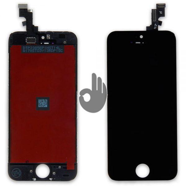 Дисплей iPhone SE черный (LCD экран, тачскрин, стекло, модуль в сборе)