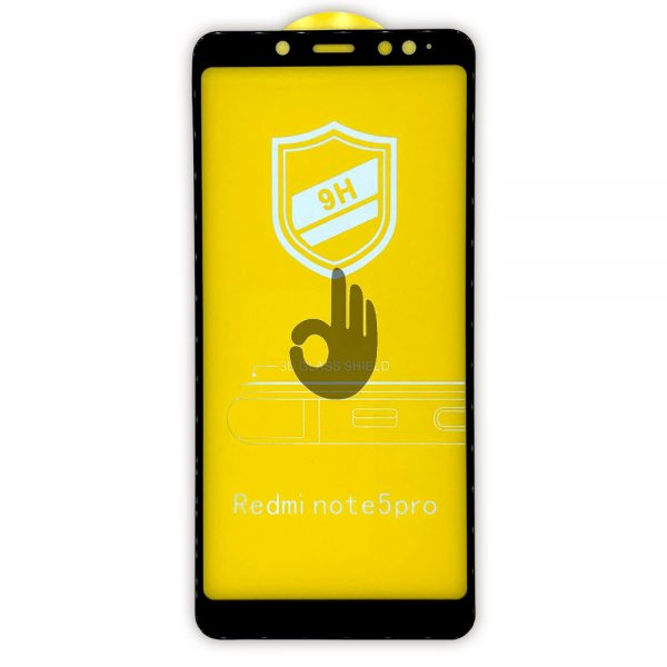 Защитное Стекло Xiaomi Redmi Note 5 | Черное | 0.25 мм, с олеофобным покрытием