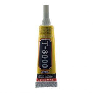 Клей силиконовый ZHANLIDA T-8000-15мл-Прозрачный-в тюбике с дозатором