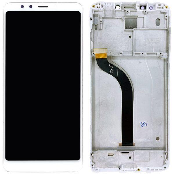 Дисплей Xiaomi Redmi 5 белый в рамке