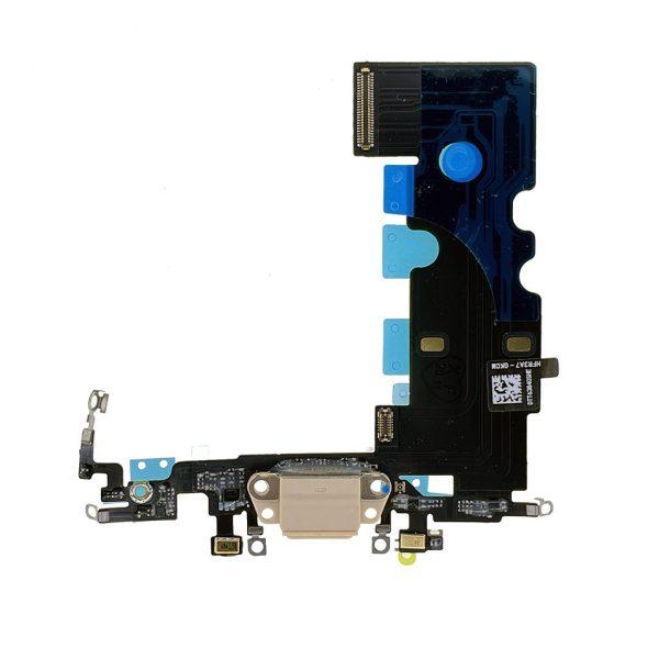 Шлейф iPhone 8 | Original | Золотой | разъема зарядки, синхронизации и нижних микрофонов