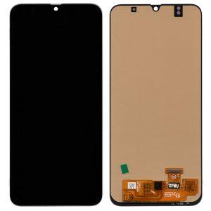 Дисплей A305 Samsung Galaxy A30 с черным тачскрином OLED