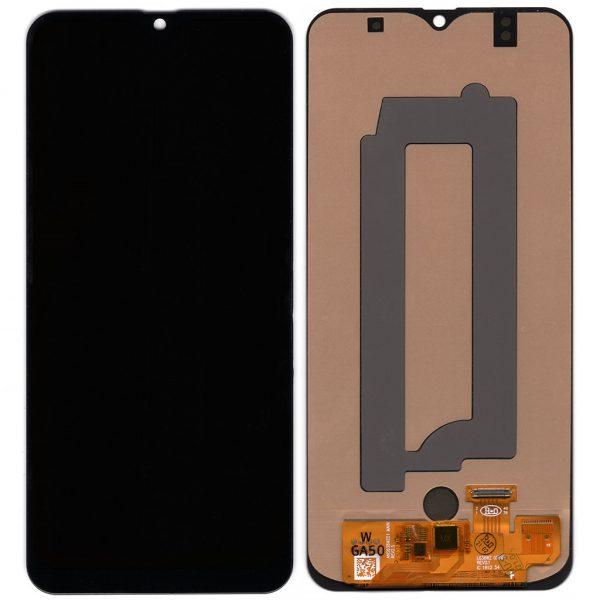 Дисплей Samsung A505 Galaxy A50, A507, A50s с черным тачскрином OLED