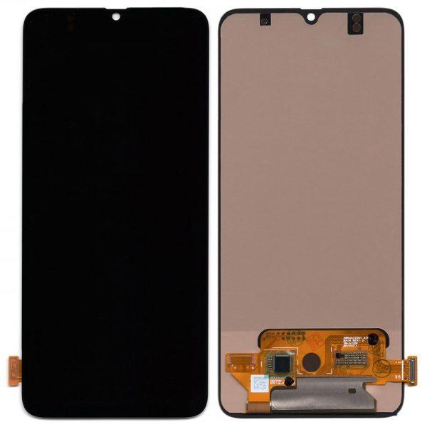 Дисплей Samsung A705 Galaxy A70 с черным тачскрином OLED