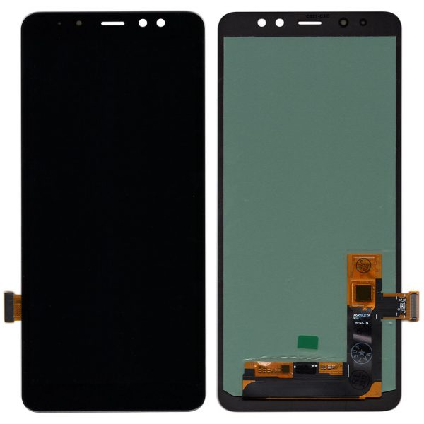 Дисплей Samsung A730 Galaxy A8 Plus (2018) с черным тачскрином ips