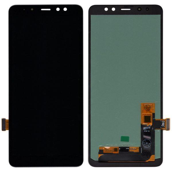 Дисплей Samsung Galaxy A8 Plus   A730   OLED   Черный   Экран + сенсор, модуль в сборе