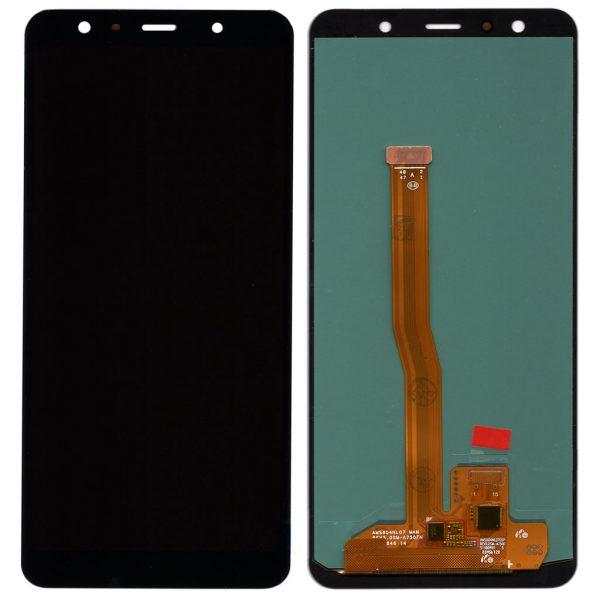 Дисплей Samsung A750 Galaxy A7 (2018) с черным тачскрином oled