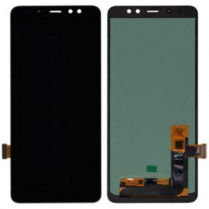 Оригинальный Дисплей Samsung A730 Galaxy A8 Plus (2018) с черным тачскрином