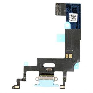 Нижний шлейф (разъем зарядки и синхронизации, микрофоны) iPhone XR (Голубой, Blue)