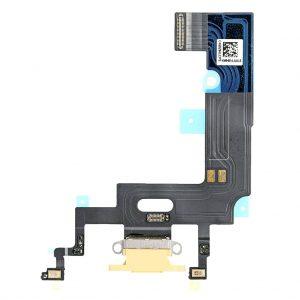 Нижний шлейф (разъем зарядки и синхронизации, микрофоны) iPhone XR (Желтый, Yellow)